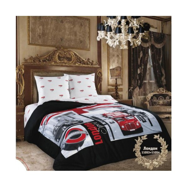 Красивое постельное белье с изображением города Лондон сатин London Spirit