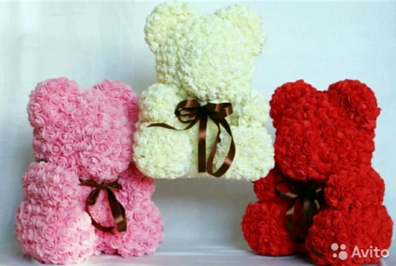 Мишки из роз